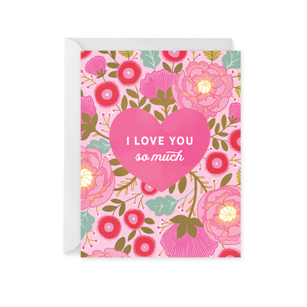 Valentine Heart Bouquet Card