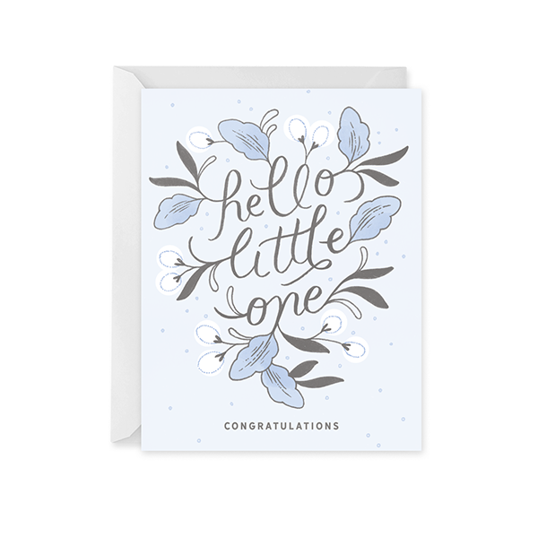 Hello Little One Card for Boy