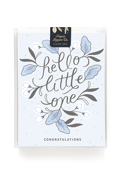 Hello Little One Card for Boy - Box Set of 8