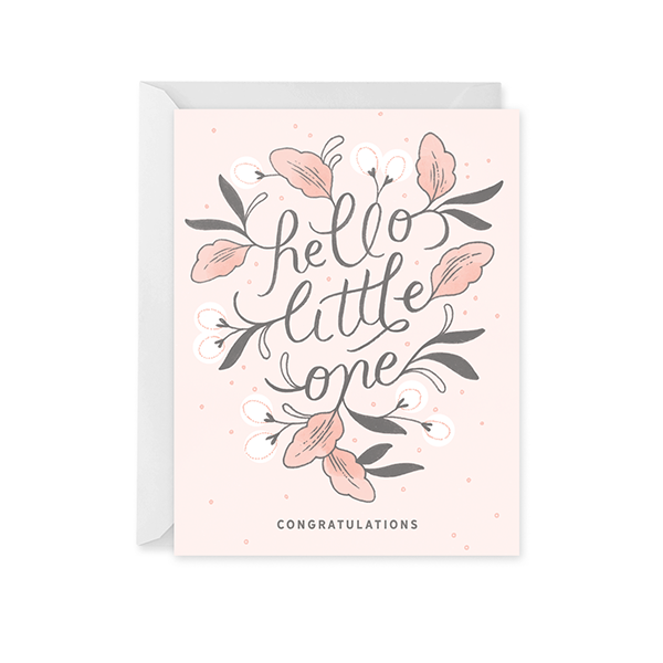 Hello Little One Card for Girl