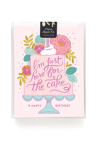 Here For The Cake Birthday Card - Box of 8