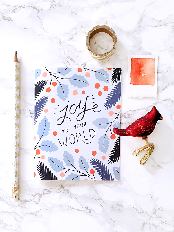 Joy to Your World Holiday Card - Box Set of 8