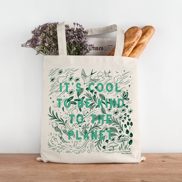 """Cool to be Kind"" Resuable Tote Bag"