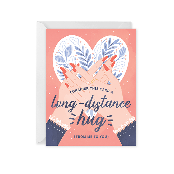 Long Distance Hug Card