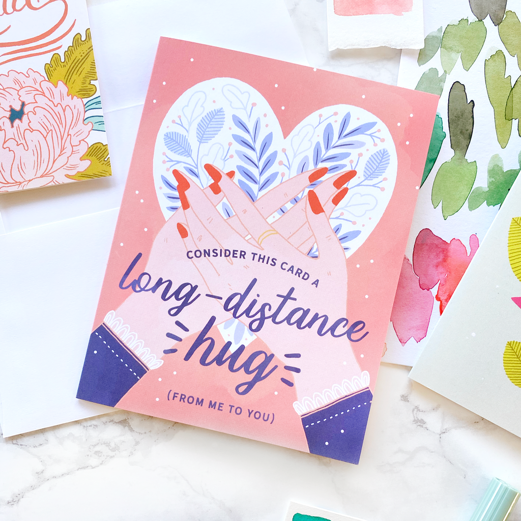 Long Distance Hug Card - Box Set of 8