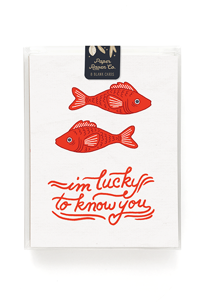 Lucky Fish Card - Box Set of 8
