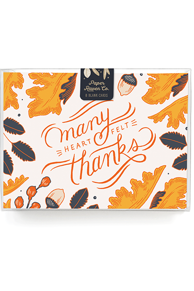 Many HeartFelt Thanks Card - Box Set of 8