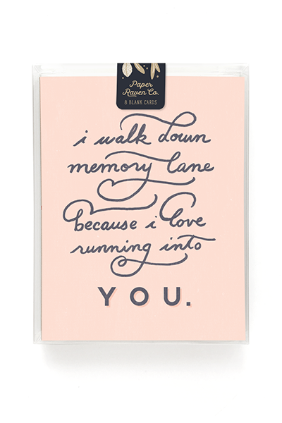 Memory Lane Card - Box Set of 8