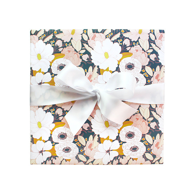 Night Floral Wrapping Paper