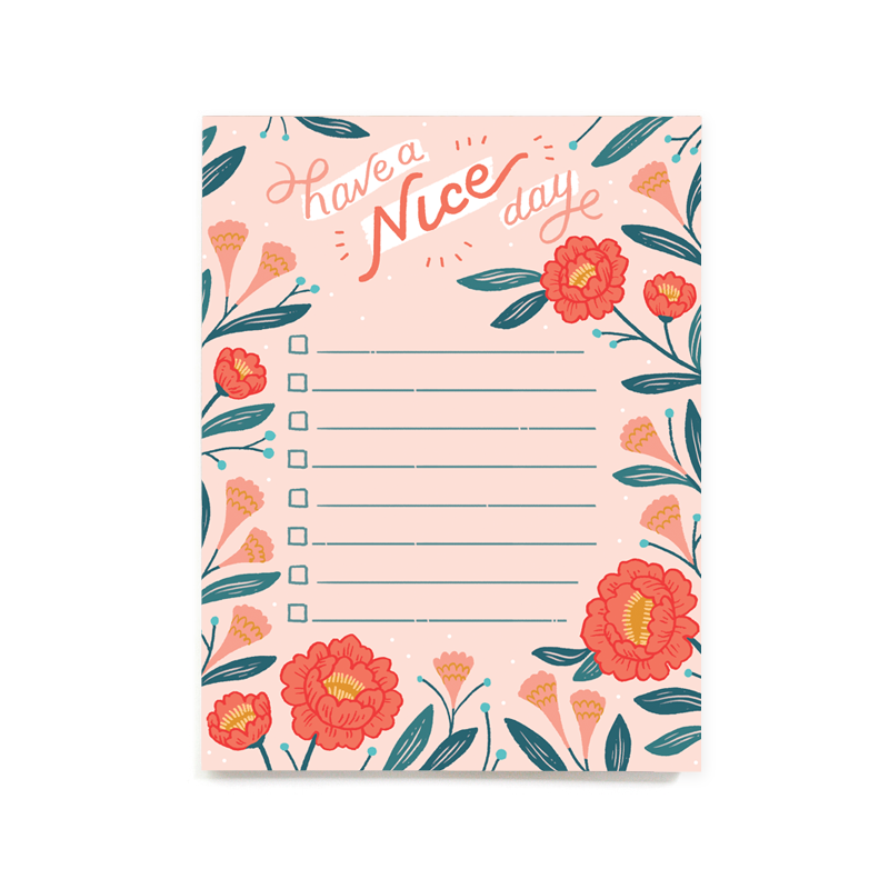 Have a Nice Day Notepad