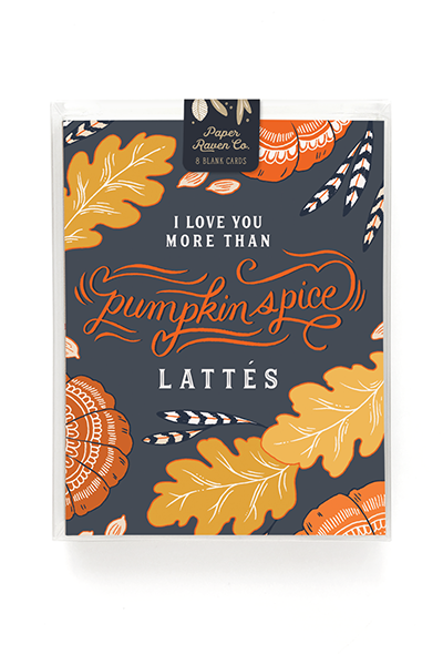 Pumpkin Spice Love Card - Box Set of 8