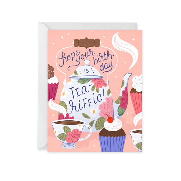 Tea-Riffic Birthday Card