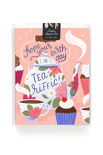 Tea-Riffic Birthday Card - Box of 8