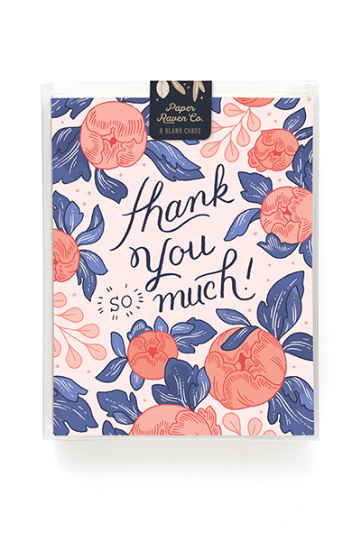 Thank You Bouquet Card - Box Set of 8 1