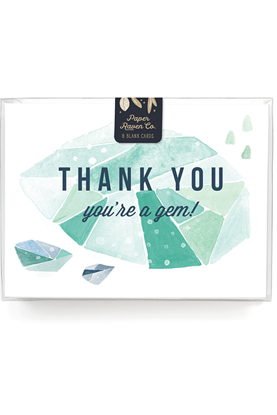 Thanks You're a Gem Card - Box Set of 8