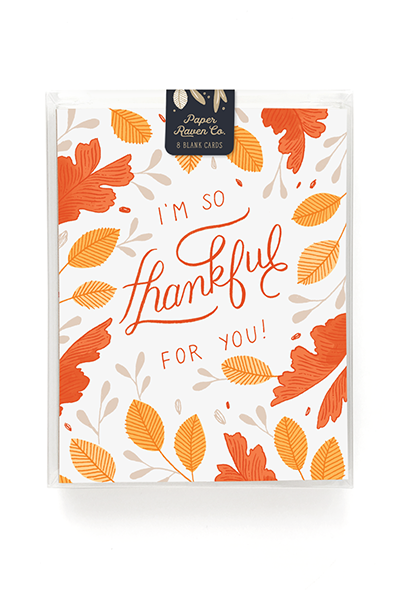 Thankful For You Card - Box Set of 8