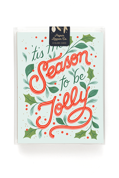 Tis The Season to Be Jolly Holiday Card