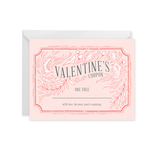 Vintage Valentine Coupon Card
