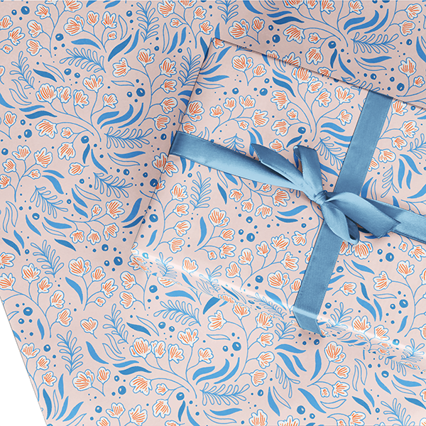 Blue Bell Tapestry Wrapping Paper