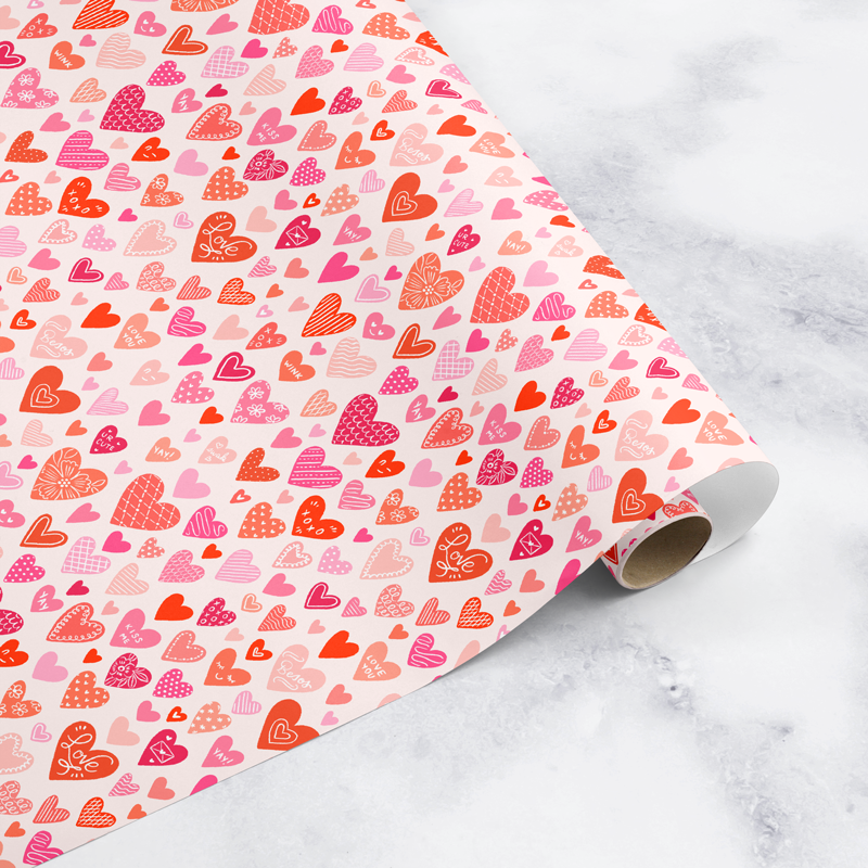NEW! Happy Hearts Wrapping Paper