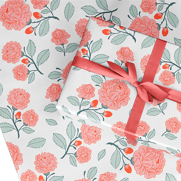 Royal Rose Wrapping Paper