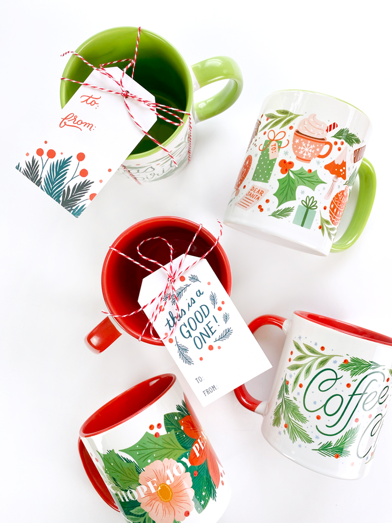Poinsettia Garland Holiday Mug