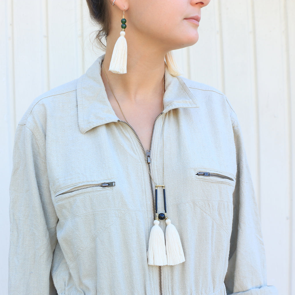 Amira Necklace in Cream