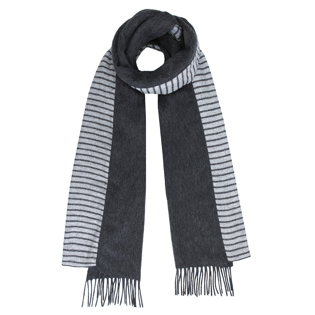 Duet Brushed Wool Scarf in White