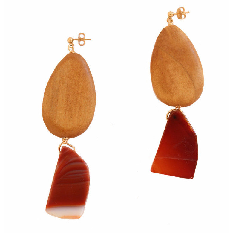 Almond Agate Earrings