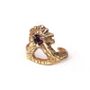 Fire on the Mountain Ring in Red Garnet