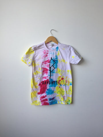 Bayonet Records T-Shirt (Multi-Color Tie-Dye)