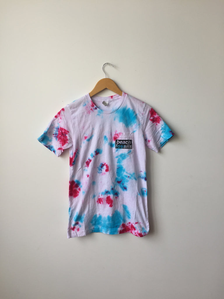 Beach Fossils Pocket Tee (Multi-Color Tie-Dye)