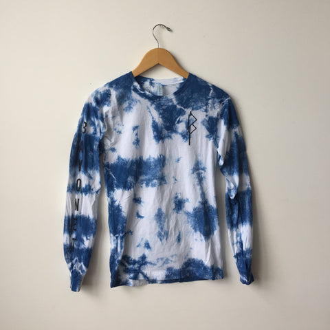 Bayonet Records Long Sleeve Shirt (Indigo Tie-Dye)