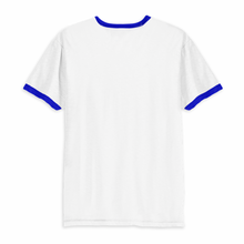 Load image into Gallery viewer, Beach Fossils Blue Logo Ringer T Shirt