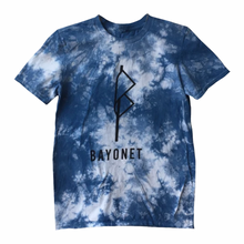 Load image into Gallery viewer, Bayonet Records T-Shirt (Indigo Tie-Dye)