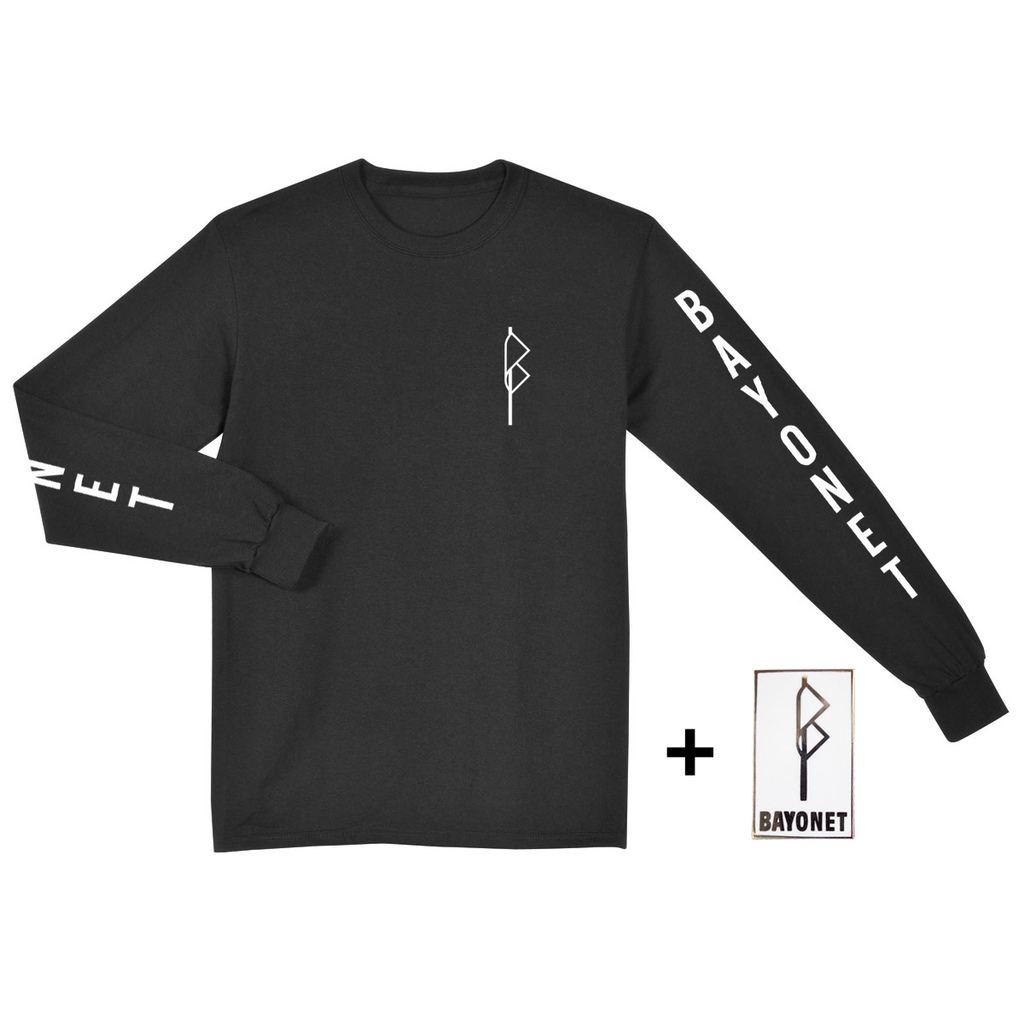 Bayonet Records Long Sleeve Shirt + Pin Bundle