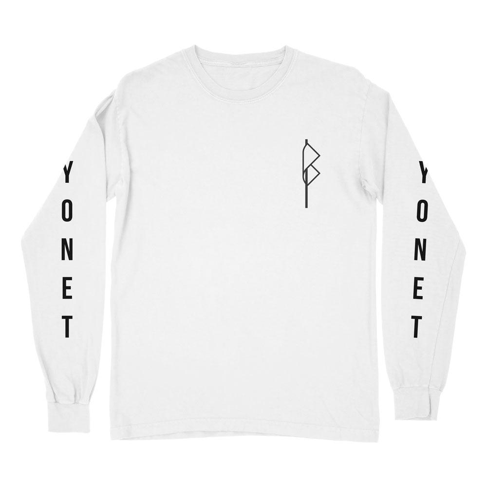 Bayonet Records Long Sleeve Shirt (White)