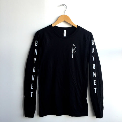 Bayonet Records Long Sleeve Shirt (Black)