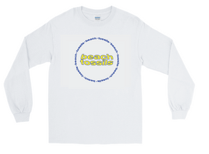 Beach Fossils Long Sleeve Circle Logo (white)