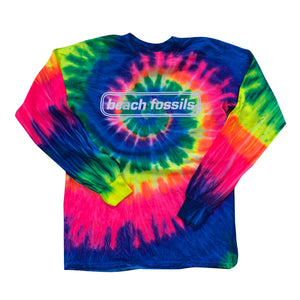 Beach Fossils Logo Tie Dye Long Sleeve