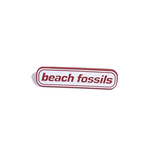 Beach Fossils Logo Pin