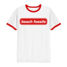 Load image into Gallery viewer, Beach Fossils Red Logo Ringer T Shirt