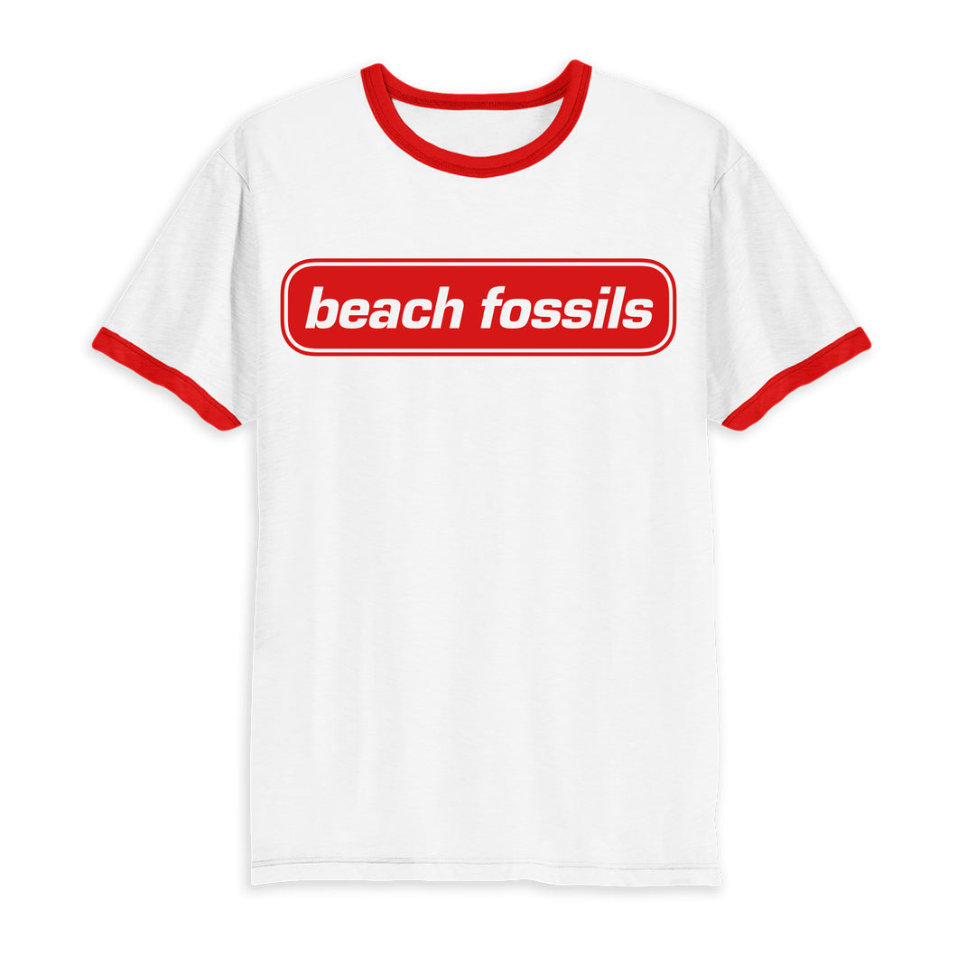 Beach Fossils Red Logo Ringer T Shirt
