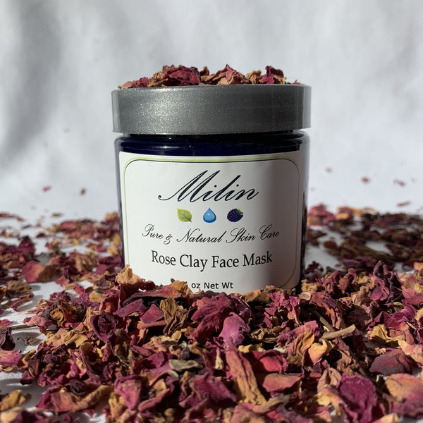 Rose Clay Face Mask (4 oz or 8 oz)