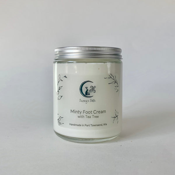 Minty Foot Cream with Tea Tree Oil
