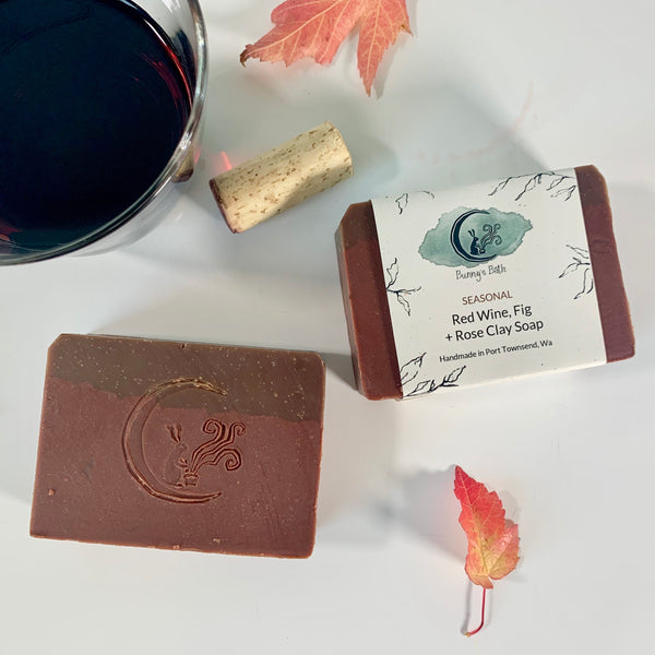 Red Wine, Fig + Rose Clay Soap
