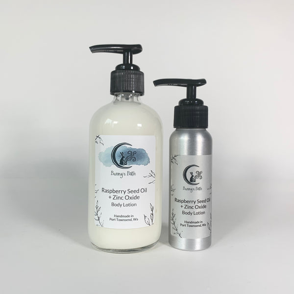 Raspberry Seed Oil Lotion with Zinc Oxide