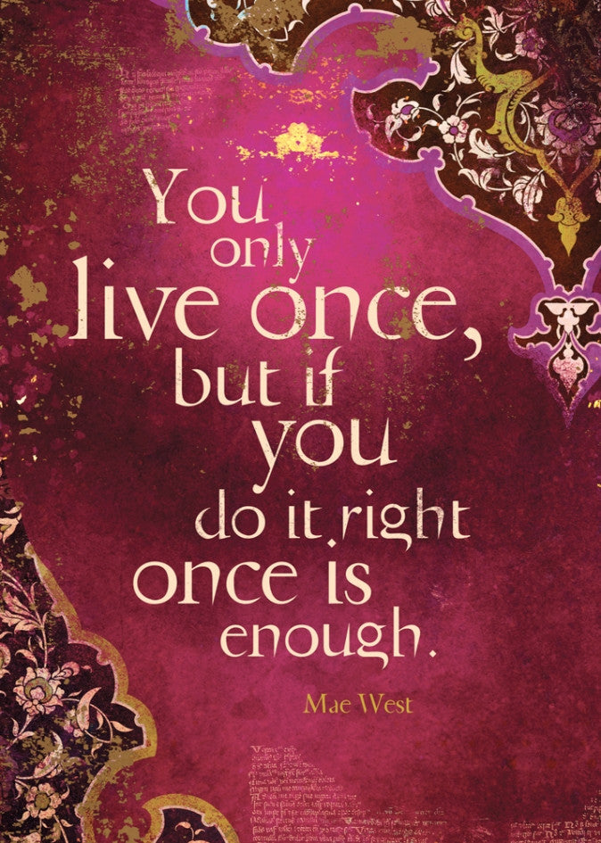 Greeting cards you only live once karmic inspirations greeting cards you only live once m4hsunfo