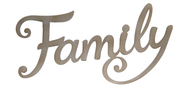 Cutout Word Plaque Family Karmic Inspirations