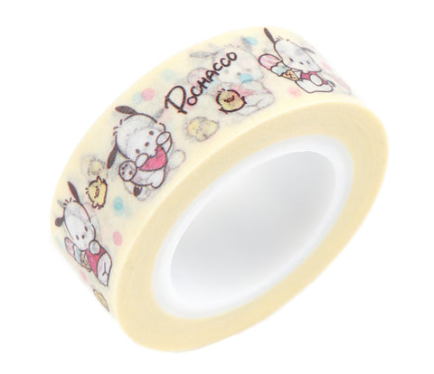 Cute Kawaii Sanrio Pochacco Washi / Masking Deco Tape - A - for Scrapbooking Journal Planner Craft